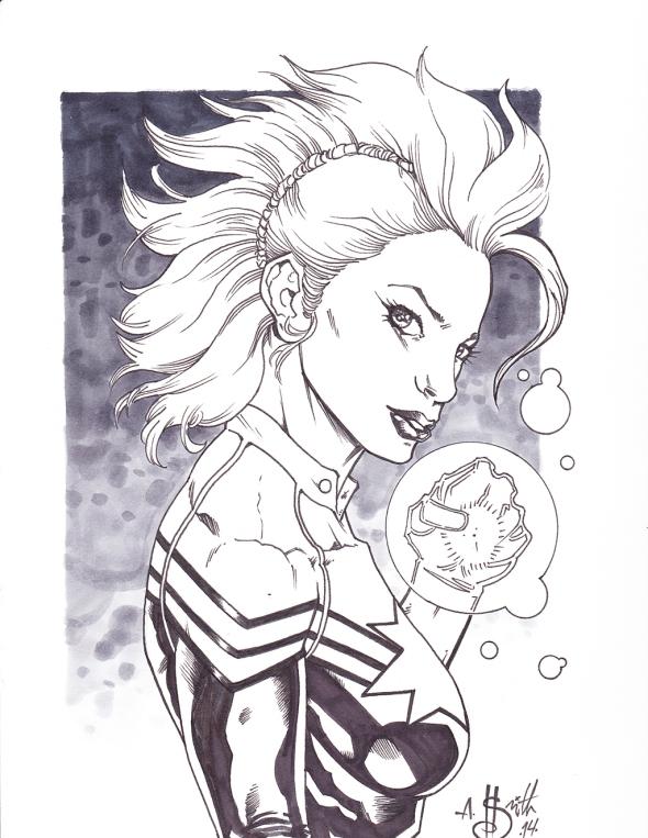 1056 Captain Marvel Commission 4-20-2014
